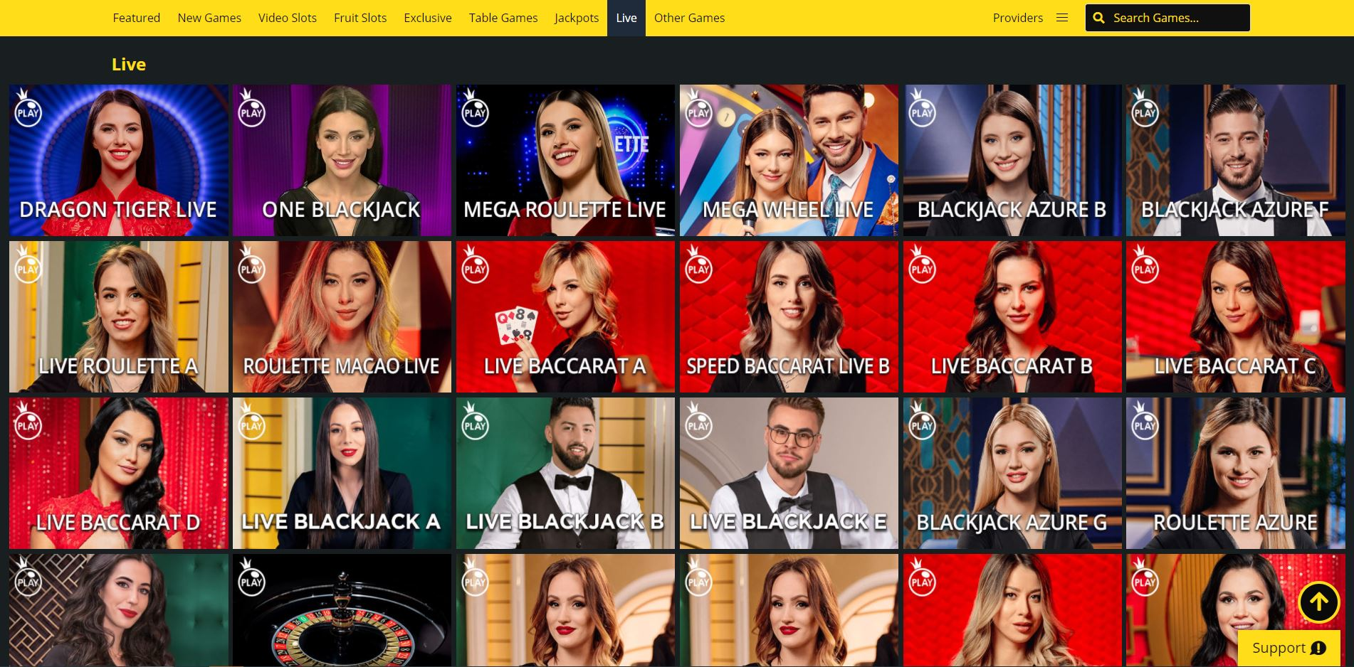 Whamoo Live Casino Screenshot