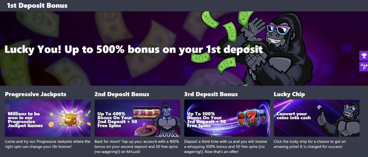 Mr Luck Casino Promotions