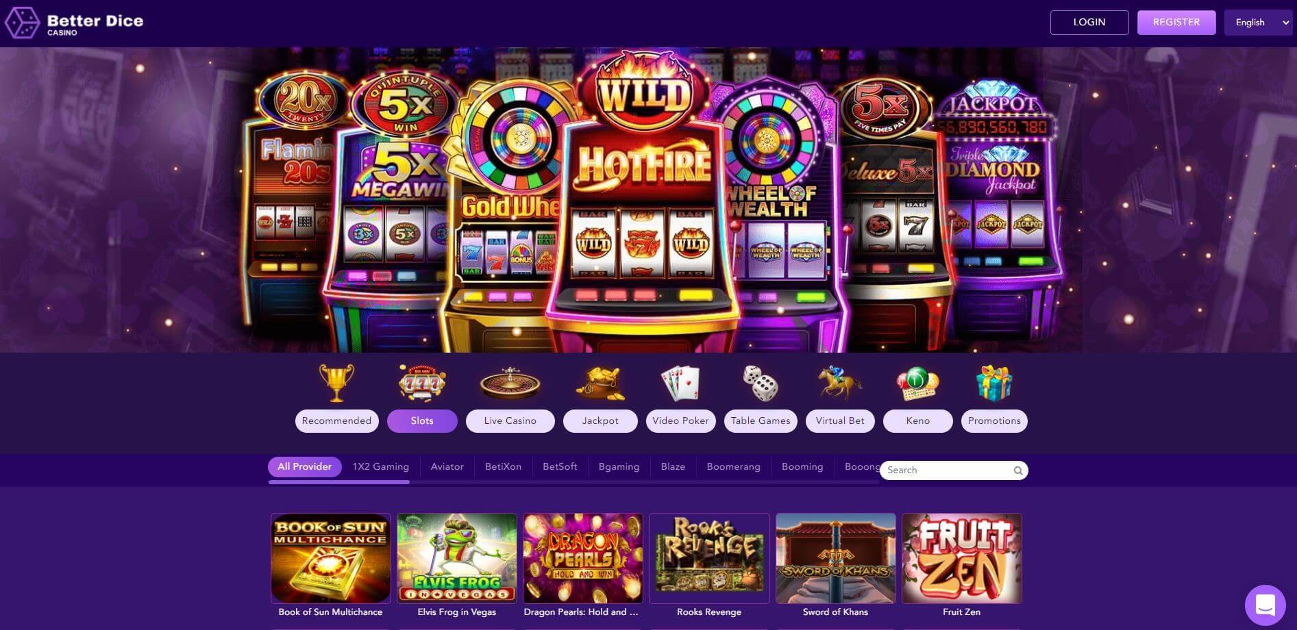 BetterDice Casino Slots