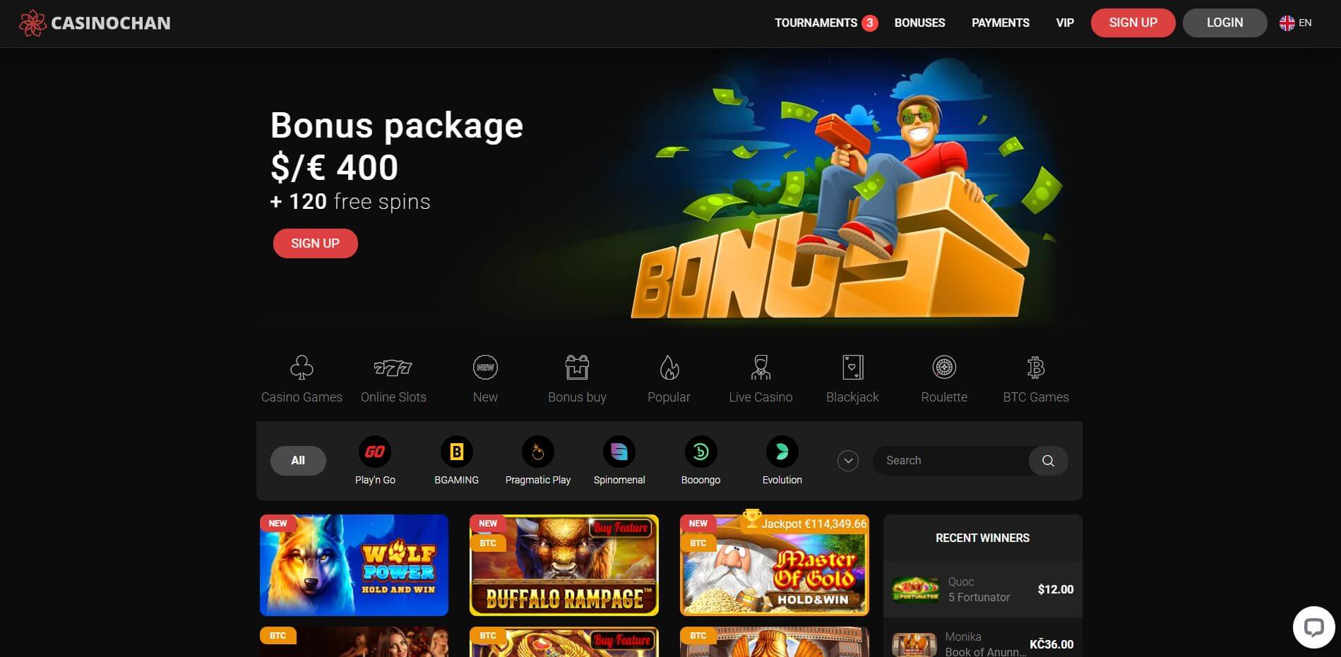 Casino Chan Homepage