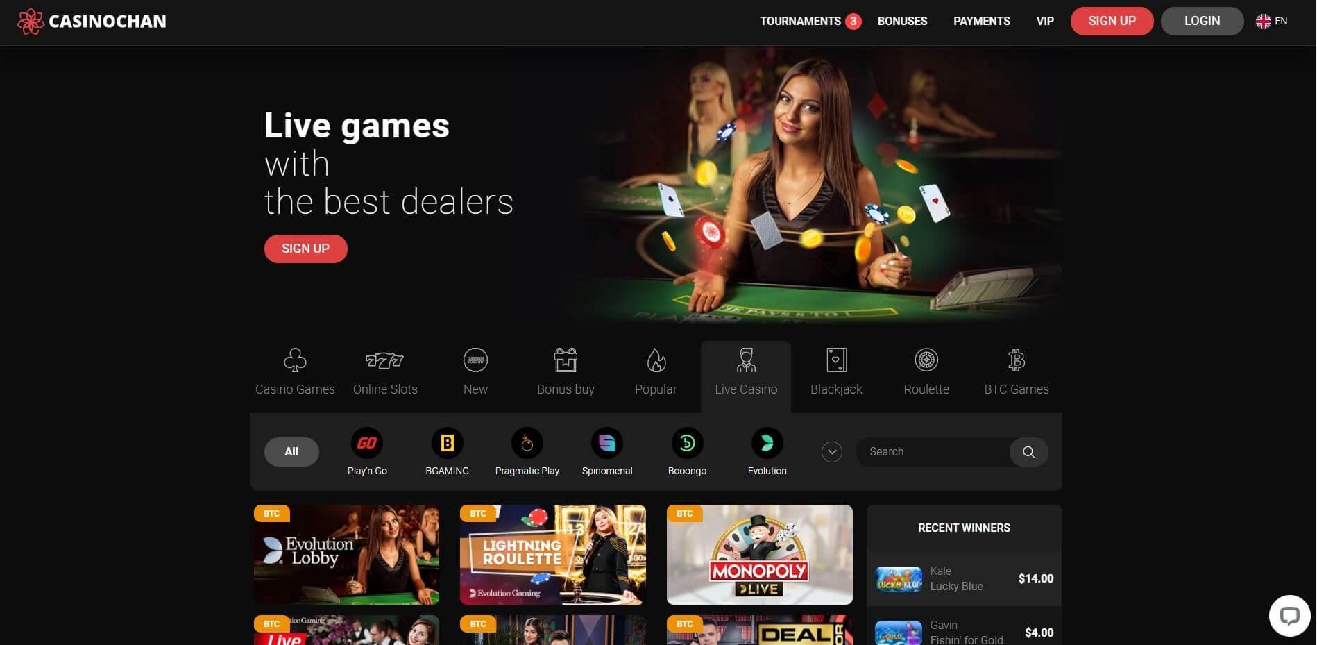 Casino Chan Live Games