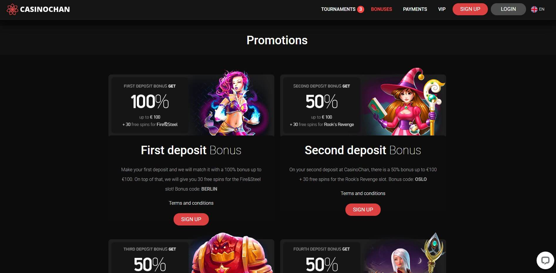 Casino Chan Promotions