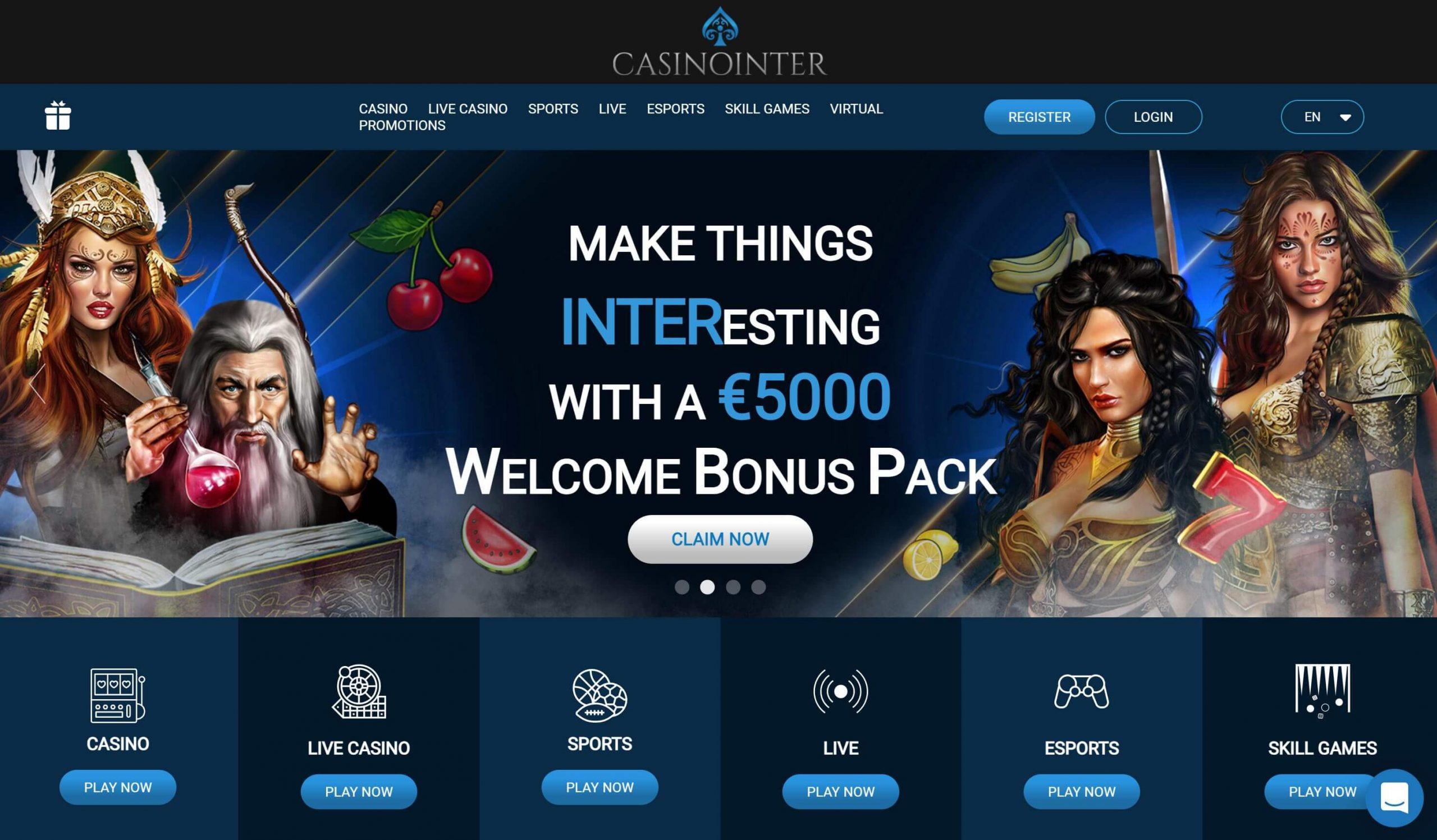 Casinointer Homepage