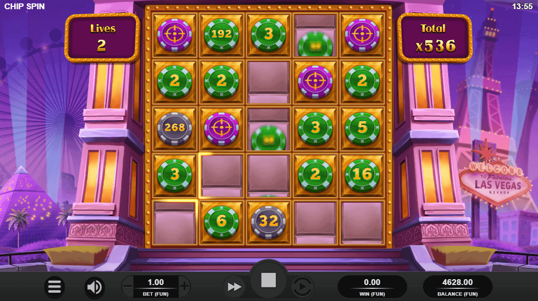 Chip Spin Bonus Feature Screenshot