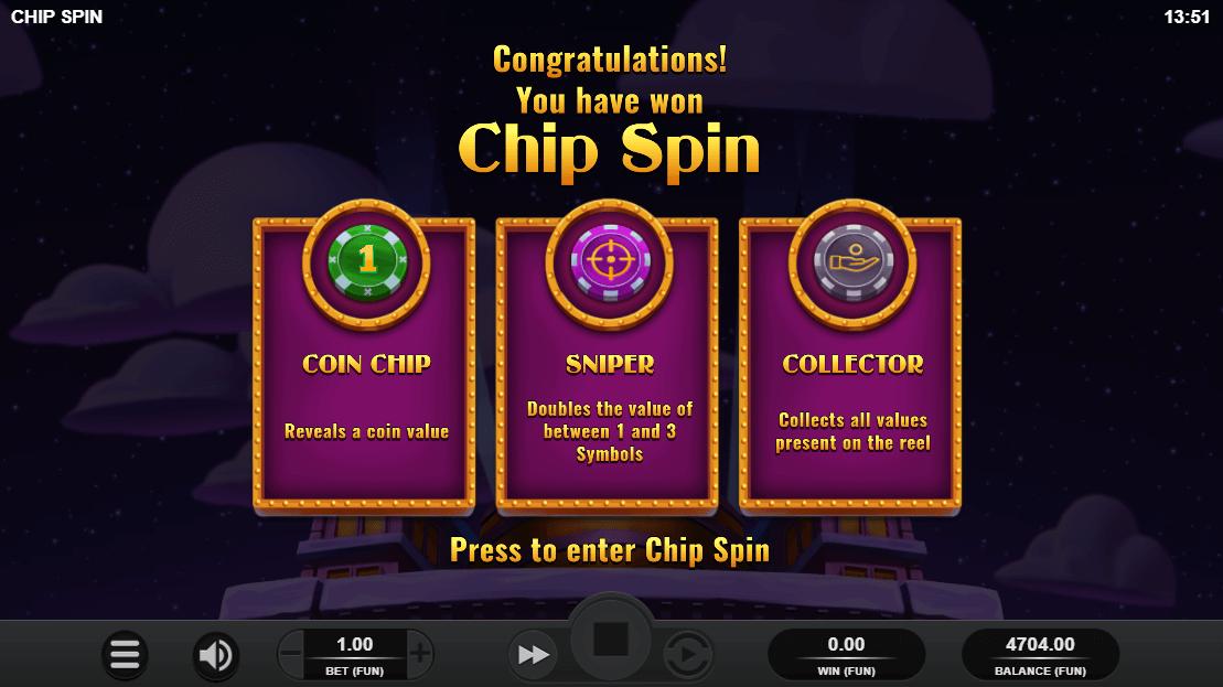 Chip Spin Bonus Game Screenshot