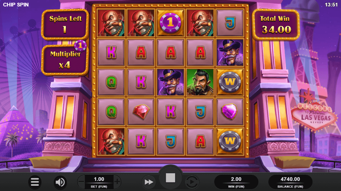 Chip Spins Free Spins Feature Screenshot