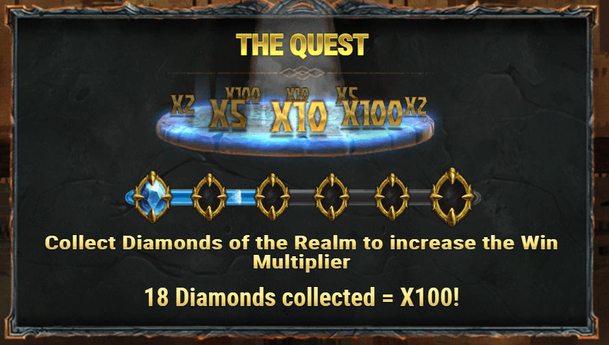Diamonds of the Realm Free Spins Quest