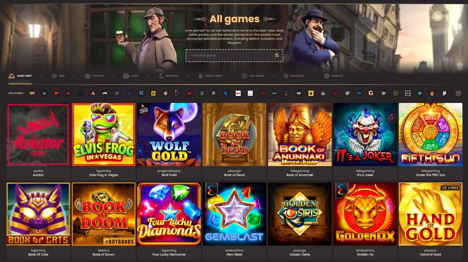 National Casino Slots