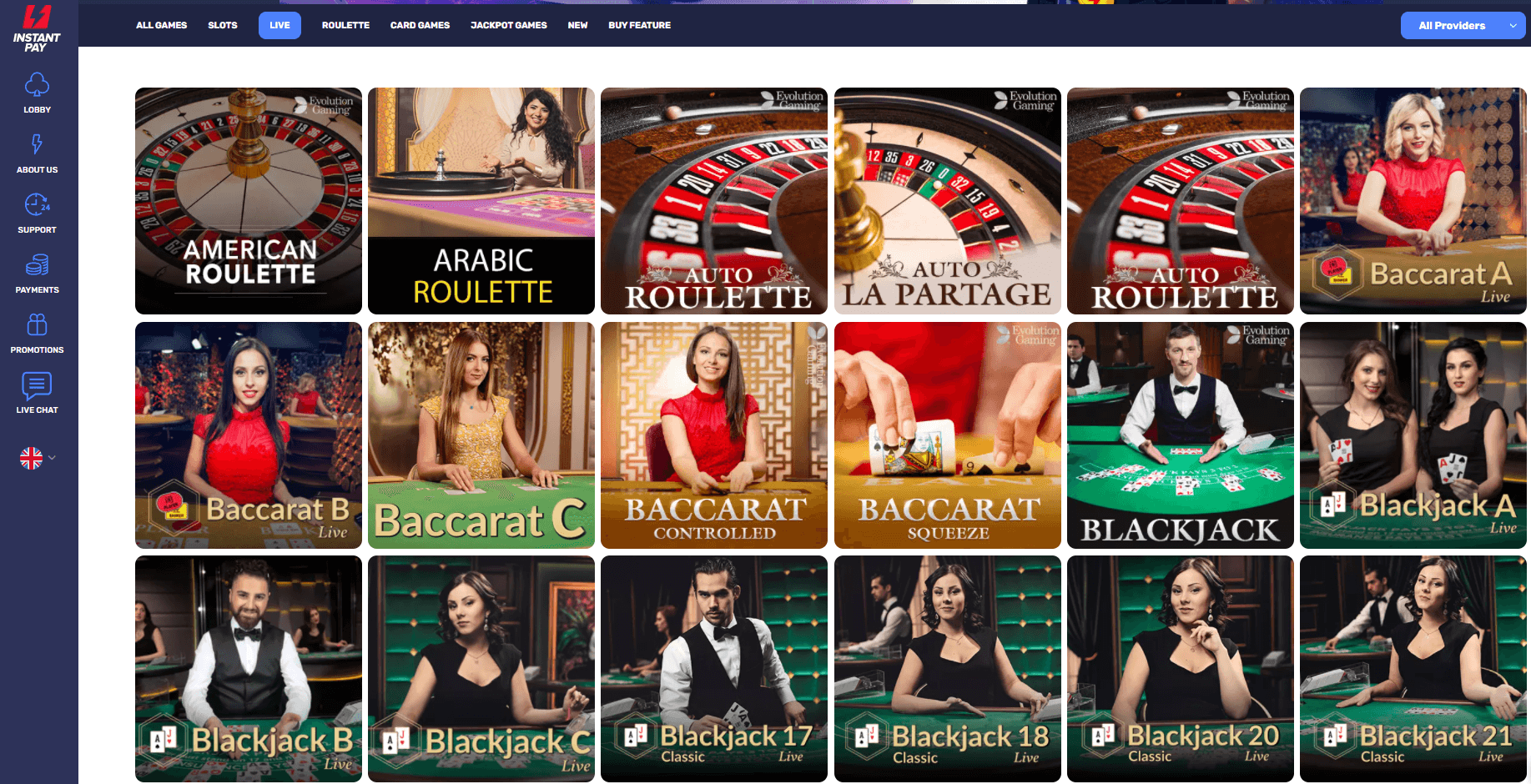 Instant Pay :Live Casino