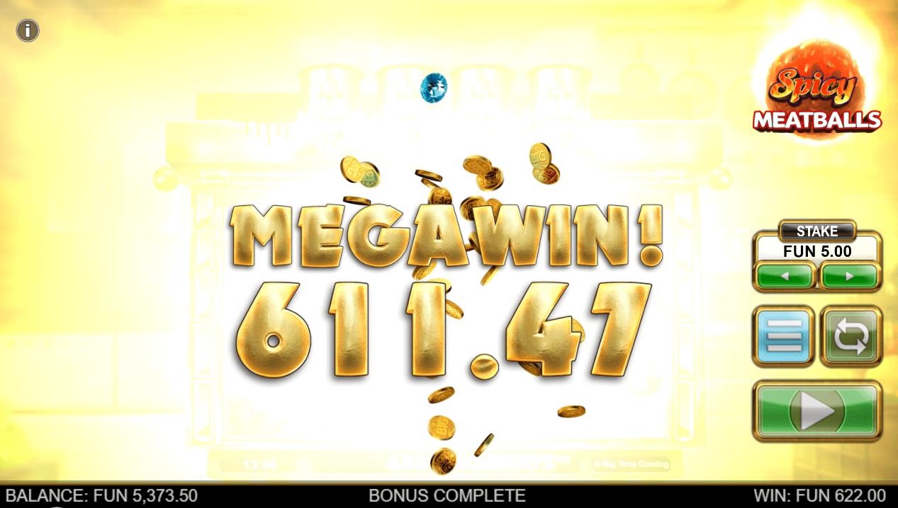 Spicy Meatballs Megaways Big Win