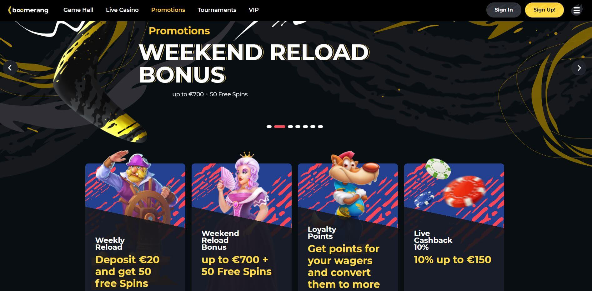 Boomerang Casino Promotions