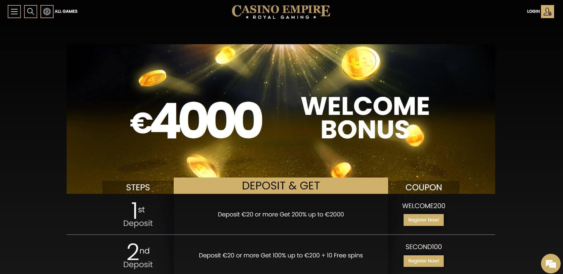 Casino Empire Promotions