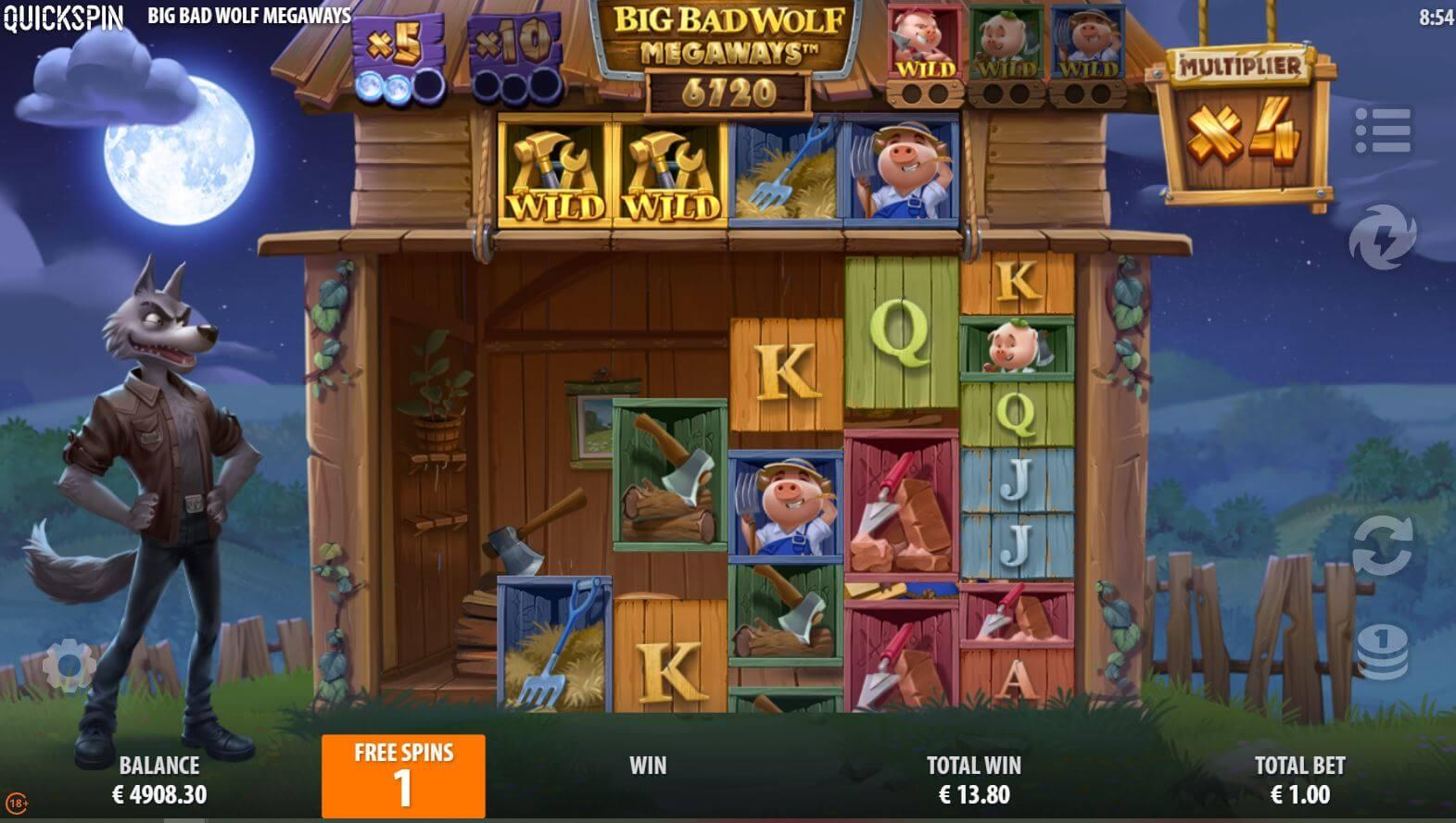 Big Bad Wolf Megaways Bonusgame